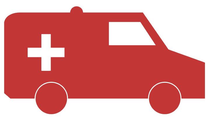 Red Ambulance Icon